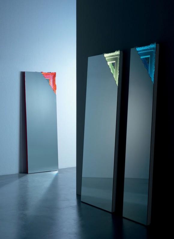 specchio Design da terra Breccia